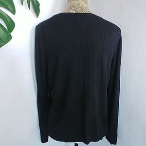 Brooks Brothers Sweaters - Brooks Brothers Silk Cableknit Crew Sweater